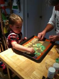 Maddy making cookies for Santa XMAS 2012
