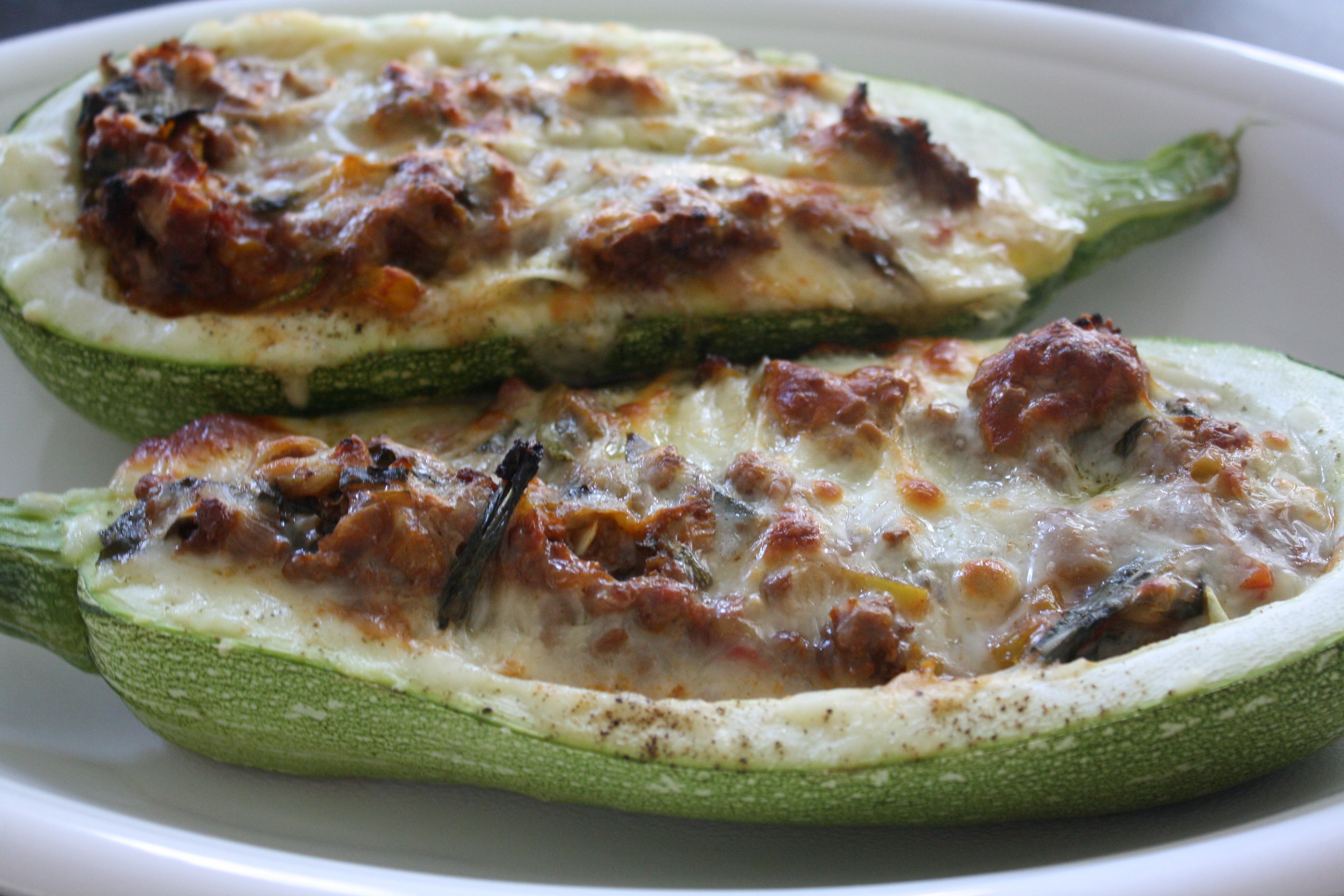Garden Fresh: Baked Stuffed Zucchini   Dana White Nutrition