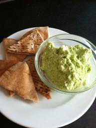 Gameday Munchies: Edamame Hummus and Homemade Pita Chips