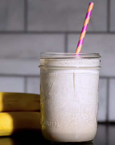 nutella milkshake with banana