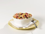 Cranberry & Cilantro Quinoa Salad in Bowl