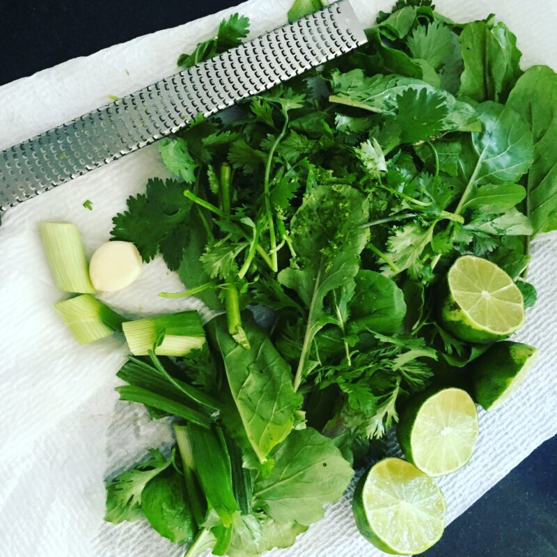 cilantro-arugula chimichurri