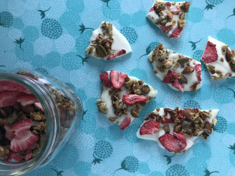 strawberry crunch bark