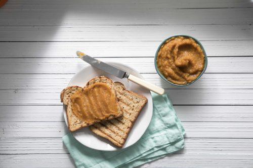 Pumpkin apple butter toast